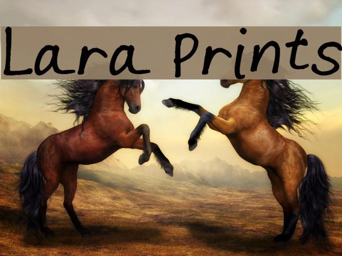 Lara Prints Font examples