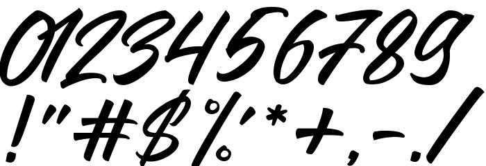LarizoDEMO フォント その他の文字