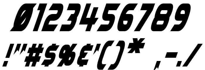 Laser Rod Oblique Font OTHER CHARS