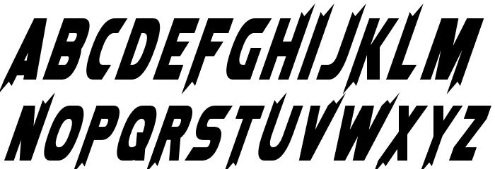 Laser Rod Oblique Font UPPERCASE