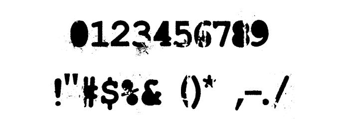 LastDraft Font OTHER CHARS