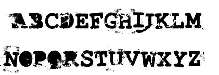 LastDraft Font UPPERCASE