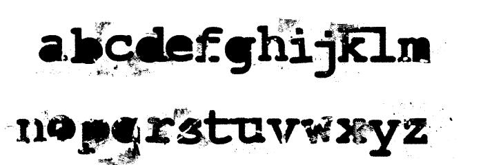 LastDraft Font LOWERCASE