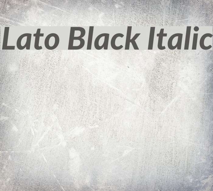 Lato black font download