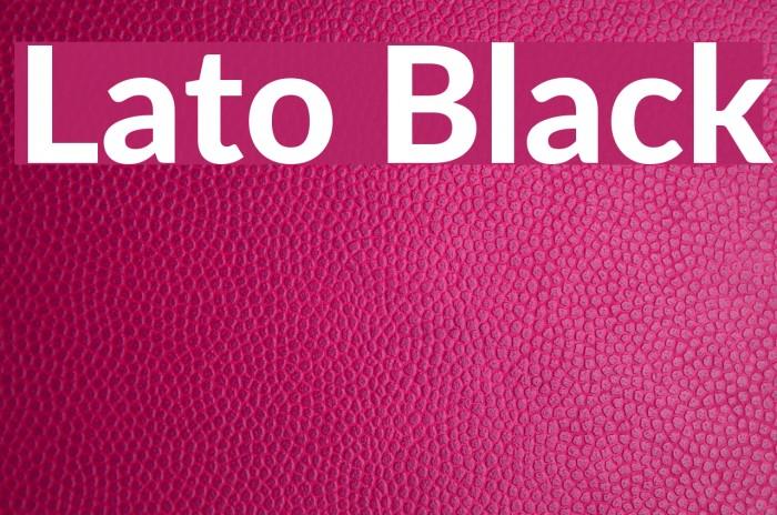 Lato Black Font examples