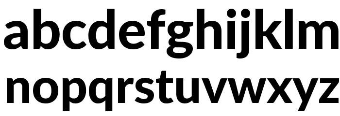 Lato Black Font LOWERCASE