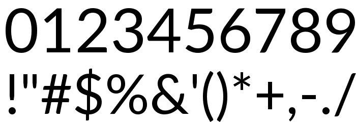 Lato Regular Font OTHER CHARS