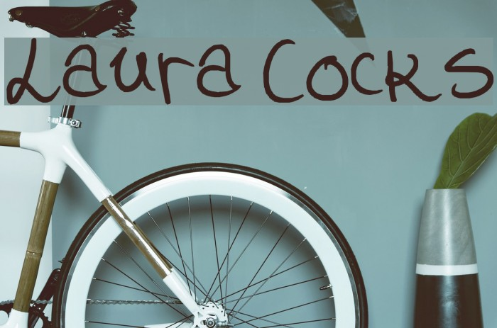 Laura Cocks Font examples