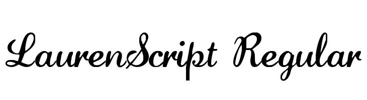 LaurenScript Regular  Fuentes Gratis Descargar