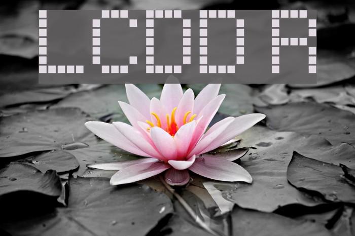 LCDDot Regular Font examples
