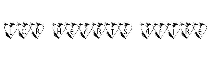LCR Hearts Afire  नि: शुल्क फ़ॉन्ट्स डाउनलोड