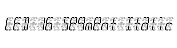 LED 16 Segment Italic  नि: शुल्क फ़ॉन्ट्स डाउनलोड