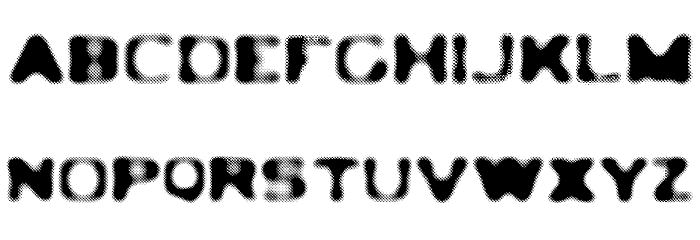 LEDLIGHT Font UPPERCASE