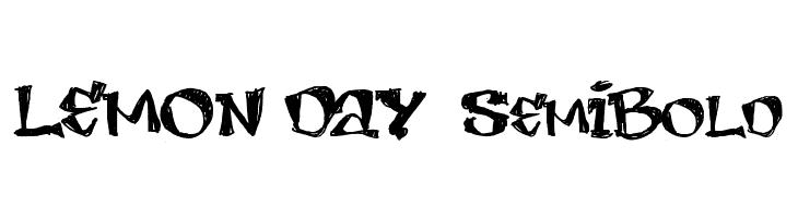 LEMON DAY  SemiBold  Free Fonts Download
