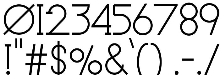 Le Super Serif フォント その他の文字