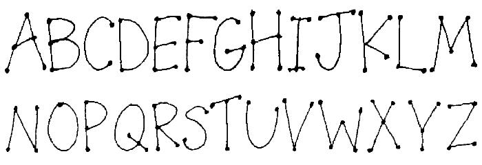 LeDot Font UPPERCASE