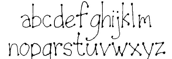 LeDot Font LOWERCASE