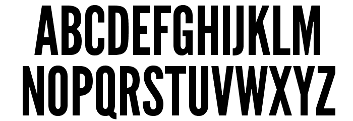 League Gothic Regular Font UPPERCASE