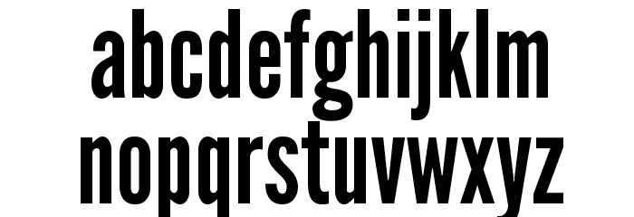 League Gothic Regular Font LOWERCASE