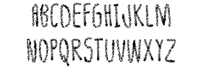 Leather Font Regular Fuentes MAYÚSCULAS