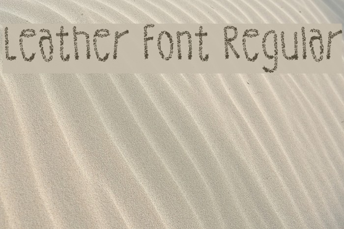 Leather Font Regular Fuentes examples