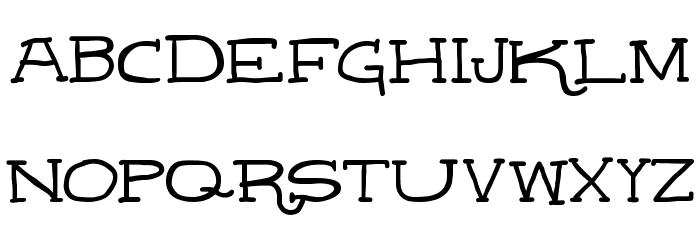 Leatherwork Regular Schriftart Groß
