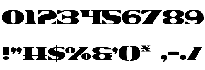 Legal Tender Font OTHER CHARS