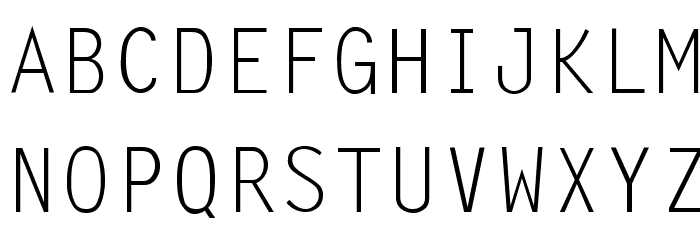 LetterGothic-Thin Font UPPERCASE