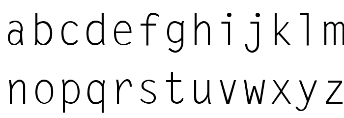 LetterGothic-Thin Font LOWERCASE