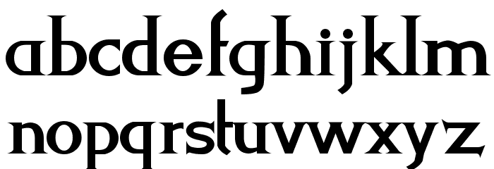 Levi-Strauss Font LOWERCASE