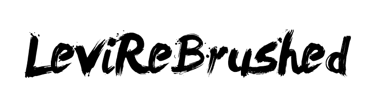 LeviReBrushed  フリーフォントのダウンロード