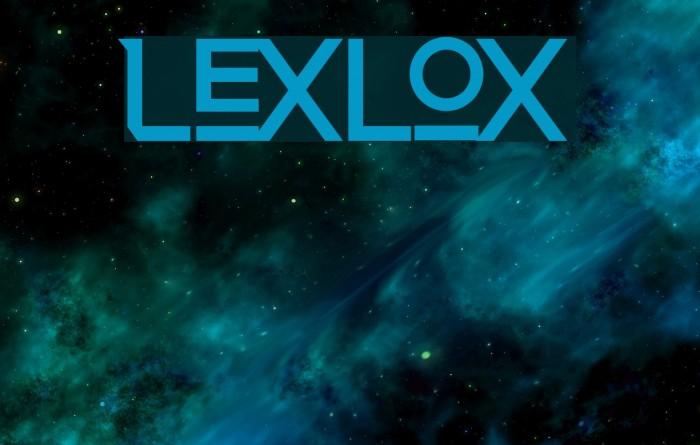 Lexlox Schriftart examples