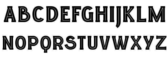 LGF ELUCIDAR TITULARES Regular Font UPPERCASE