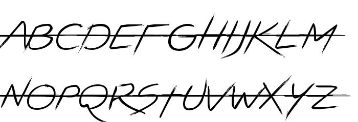 LIGHTSTRIKE フォント 大文字