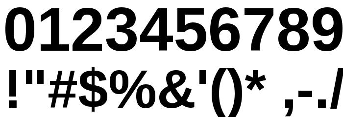 Liberation Sans Bold Font OTHER CHARS