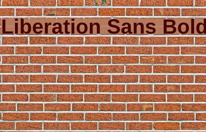 Liberation Sans Bold Font examples