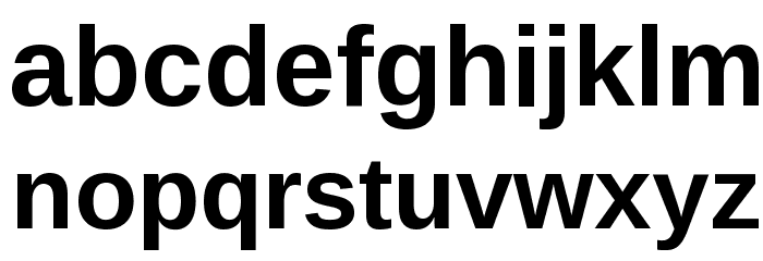 Liberation Sans Bold Font LOWERCASE