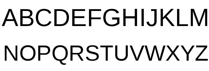 Liberation Sans Font UPPERCASE