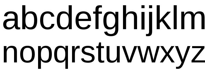 Liberation Sans Font LOWERCASE