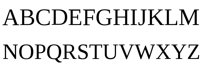Liberation Serif Font UPPERCASE