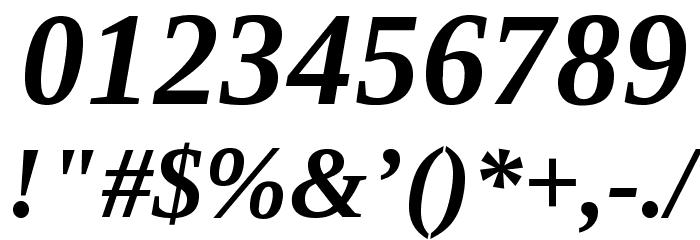 LibraSerifModern-BoldItalic Fuentes OTROS CHARS