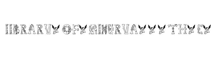 Library-of-Minerva--9th-c-  フリーフォントのダウンロード