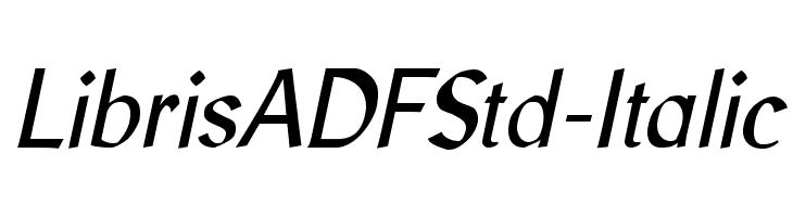 LibrisADFStd-Italic  Скачать бесплатные шрифты