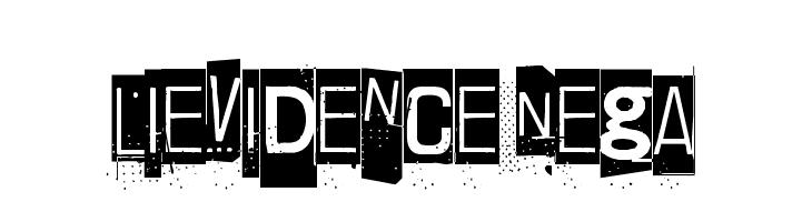 Lievidence Nega  Скачать бесплатные шрифты