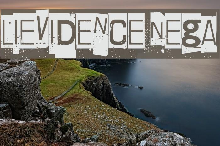 Lievidence Nega Font examples