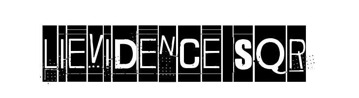 Lievidence SQR Font