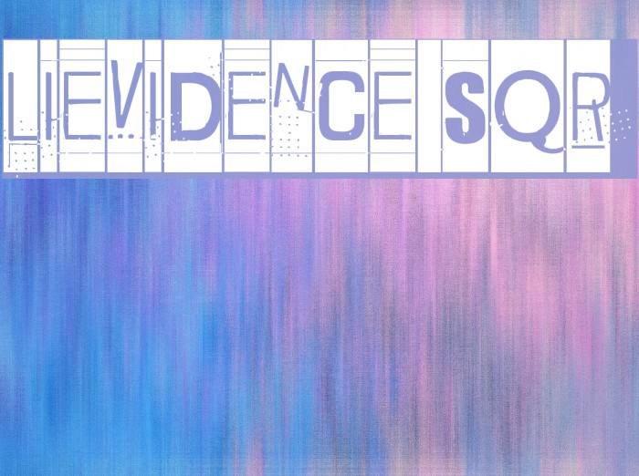 Lievidence SQR Font examples
