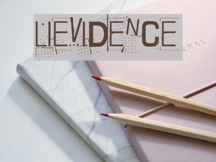 Lievidence Шрифта examples