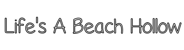 Life's A Beach Hollow  baixar fontes gratis