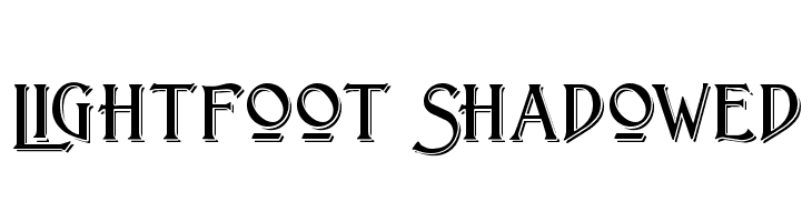 Lightfoot Shadowed  Free Fonts Download